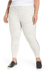 Tart Plus Size Catie Pants Ivory Grey Space Dye