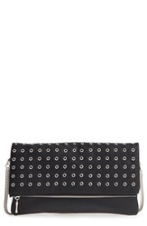 Sole Society 'Gamble' Grommet Faux Leather Flap Clutch