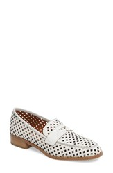 Aquatalia By Marvin K Women's Sheryl Perforated Loafer White