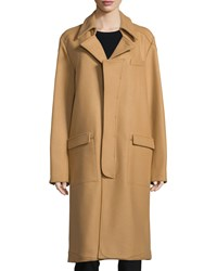 Opening Ceremony Long Sleeve Cocoon Coat Camel