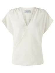 Jigsaw Silk Wrap Top Ivory