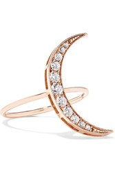 Andrea Fohrman Luna 18 Karat Rose Gold Diamond Ring