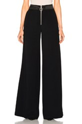 Off White Side Band Trousers In Black