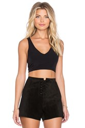 Lucca Couture Racerback Crop Top Black