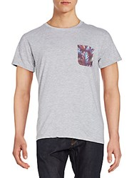 Eleven Paris Printed Patch Pocket Tee Grey Chine