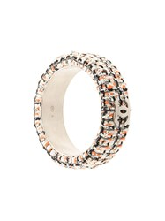 Chanel Pre Owned Tweed Embroidered Bangle Multicolour