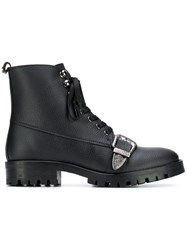 Trussardi Jeans Buckled Ankle Boots Black