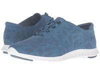 Cole Haan Zerogrand Perf Trainer Stellar Perf Nubuck Optic White Women's Shoes Blue