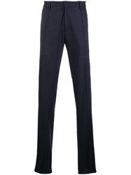 Armani Jeans Jersey Tailored Trousers Blue