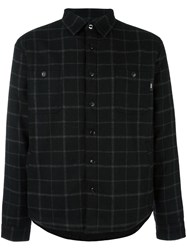 Edwin Checked Shirt Jacket Black