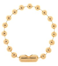 Balenciaga Metal Pearl Necklace Gold