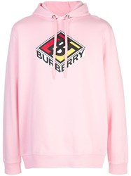 Burberry Graphic Logo Hoodie Pink