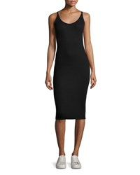 Atm Anthony Thomas Melillo Modal Rib Midi Tank Dress Black
