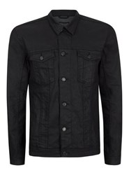 Antioch Black Coated Denim Jacket