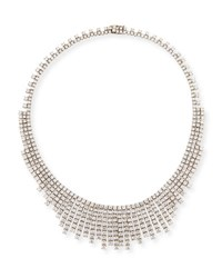 Zydo Luminal Diamond Graduated Tassel Necklace In 18K White Gold