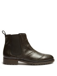 Belstaff Lancaster Leather Boots Black