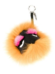 Fendi Bag Bugs Bag Charm Yellow And Orange