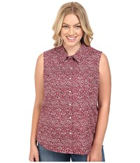 Roper Plus Size 0393 Vintage Tapestry Red Women's Sleeveless