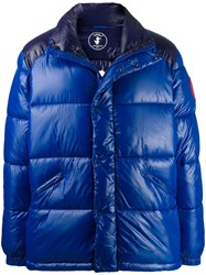 Save The Duck Funnel Neck Padded Jacket Blue