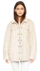 Current Elliott The Teddy Trucker Jacket Sherpa