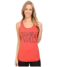 The North Face Graphic Play Hard Tank Top Melon Red Heather Women's Sleeveless