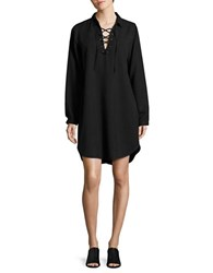 Vero Moda Lace Up Tunic Black
