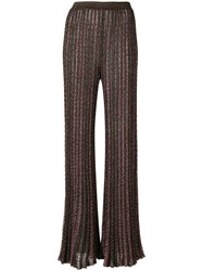 Missoni Sheer Palazzo Trousers Brown