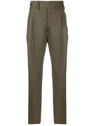 Gabriele Pasini Striped Tailored Trousers Neutrals