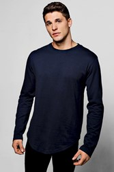 Long Sleeve Longline Scoop T Shirt