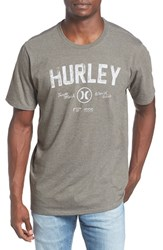 Hurley Men's 'Battle Cat' Graphic Crewneck T Shirt