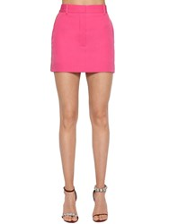 Calvin Klein 205W39nyc Side Band Wool Gabardine Mini Skirt Pink