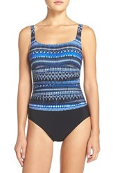 Gottex Women's Profile By 'Indigo Girl' Print One Piece Swimsuit