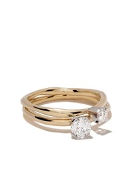 Wouters And Hendrix Gold 18Kt Yellow White Gold Toi Et Moi' Diamond Yellow Gold White Gold