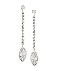 Carolee Linear Drop Earrings Silver