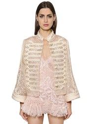 Ermanno Scervino Embroidered Silk Organza Jacket