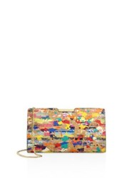 Milly Small Splatter Paint Cork Frame Clutch Multi