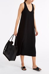 Helmut Lang Scoop Neck Midi Dress Black