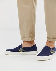Original Penguin Rainbow Plimsoll In Navy