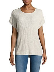 Saks Fifth Avenue Ribbed Cashmere Top Blizzard