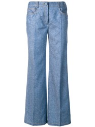 Agnona Flared Jeans Blue
