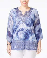 Jm Collection Plus Size Embellished Split Neck Top Only At Macy's Everything New