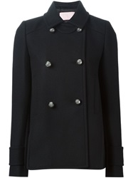 Giamba Double Breasted Short Coat Black