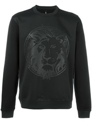 Versus Lion Print Sweatshirt Black