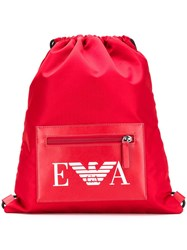 Emporio Armani Branded Gym Bag Red