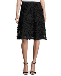 5Twelve Floral Applique Flare Skirt Black