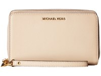 Michael Michael Kors Adele Large Flat Multifunction Phone Case Oyster Cell Phone Case Beige