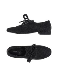 Mellow Yellow Lace Up Shoes Black
