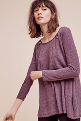 Anthropologie Montel Striped Pullover Wine