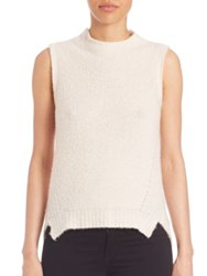 Milly Sleeveless Cashmere Blend Sweater White