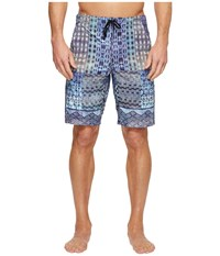 Manduka The Homme Redux Havana Patchwork Print Men's Shorts Blue